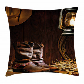 Western Riding Tools Shoe Throw Pillow Cushion Cover