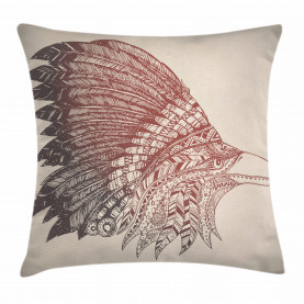 Bird Oriental Tribal Ornament Throw Pillow Cushion Cover
