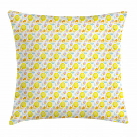 Abstract Summer Flowers Throw Pillow Cushion Cover