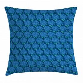 Blue Hydrangea Blossom Throw Pillow Cushion Cover