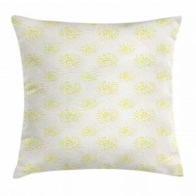 Chrysanthemum and Dahlia Throw Pillow Cushion Cover