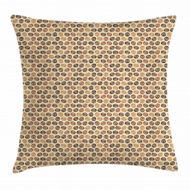Roasted and Brewed Beans Throw Pillow Cushion Cover