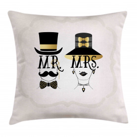 Man and Woman Design Throw Pillow Cushion Cover