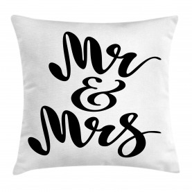 Hand Lettering Pattern Throw Pillow Cushion Cover