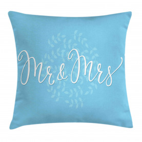Romantic Wedding Design Throw Pillow Cushion Cover