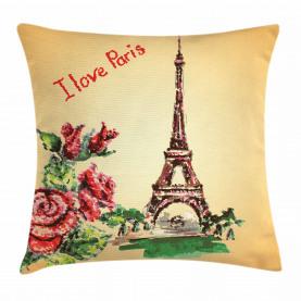 Liebe in Paris Eiffel Kissenbezug