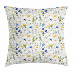 Mohnblumen-Gänseblümchen ländlich Kissenbezug