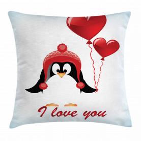 Ballons Ich liebe dich Kissenbezug