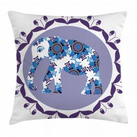 Medaillon Elefant Tulpe Kissenbezug
