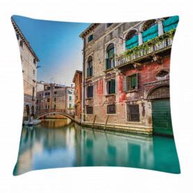 Italien Stadtwasserkanal Kissenbezug