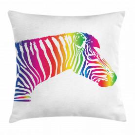 Zebra bunte gestreift Kissenbezug