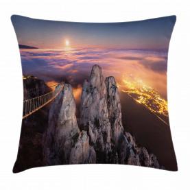 Vollmond Sonnenuntergang Alpen Kissenbezug