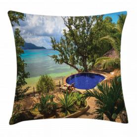 Exotischer Strand Sommer Kissenbezug