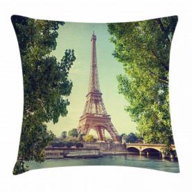 Eiffel Tower Seine River Kissenbezug