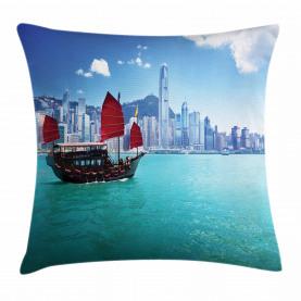 Hong Kong Harbour Boot Kissenbezug