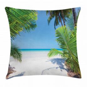 Palm Leaf tropischen Strand Kissenbezug