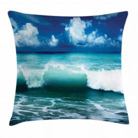 Karibik Seascape Wellen Kissenbezug