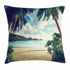 Sommer Vintage Tropical Kissenbezug