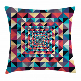 Visuelle Patchwork Retro Kissenbezug