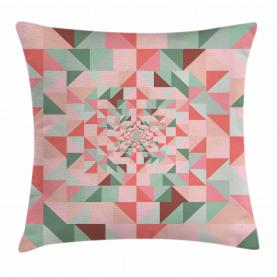Geometrie gestaltet Pastell Kissenbezug