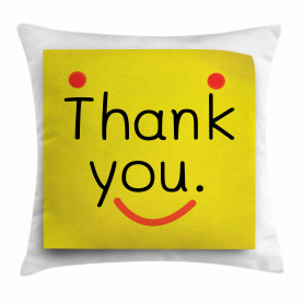 Danke Emoji Smiley-Gesicht Kissenbezug