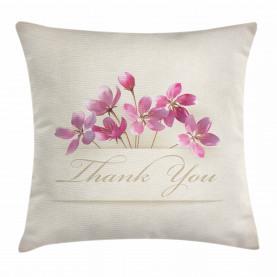Blumen Danke Kissenbezug