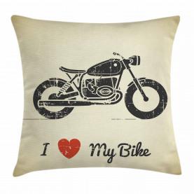 Grunge flaches Motorrad Kissenbezug