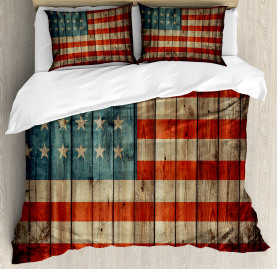 American  Duvet Cover Old National Patriotic Print
