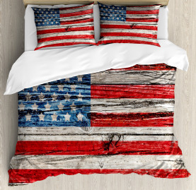 American  Duvet Cover Fourth of July Theme Print
