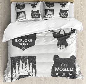 Quotes  Duvet Cover Stay Wild and Wander Print