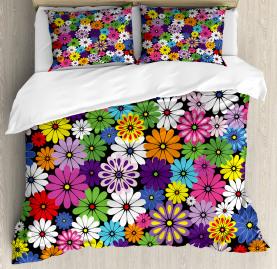 Floral Vivid Daisies Duvet Cover Set