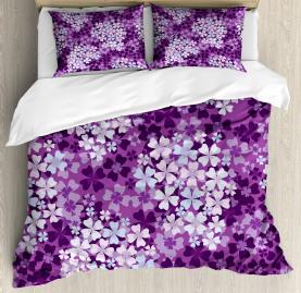 Hydrangea Lilacs Field Duvet Cover Set