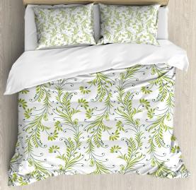 Old Leaf Swirl Floral Duvet Cover Set