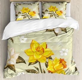 Floral Narcissus Branch Duvet Cover Set