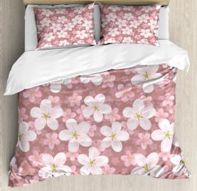 Cherry Blossoms Petal Duvet Cover Set