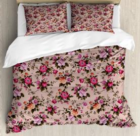 Floral Pattern with Rose Duvet Cover Set