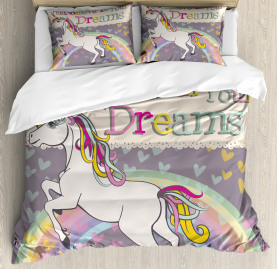 Unicorn  Duvet Cover Believe In Your Dreams Print
