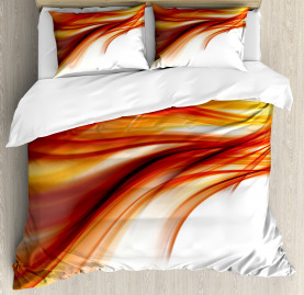 Modern  Duvet Cover Abstract Smooth Lines Print