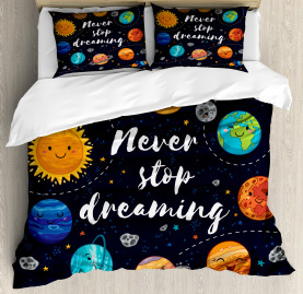 Quote  Duvet Cover Outer Space Star Cluster Print