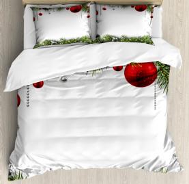 Christmas  Duvet Cover Baulbes Noel Tree Print