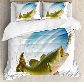 Fish  Duvet Cover Wild Life in Nature Theme Print