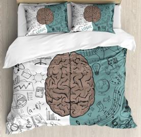 Modern  Duvet Cover Music Logic Brain Art Print