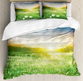 Spring  Duvet Cover Dandelion Flower Field Print