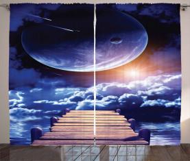Meteoriten-Dock Sun Vorhang
