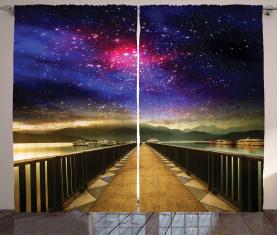 Galaxie-Kosmos-Brücke Vorhang