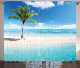 Idyllische Landschaft Sunbeam Vorhang