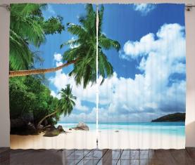 Kokosnuss-Baum-Strand Vorhang