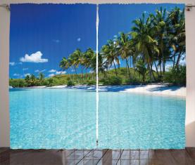 Entspannen Sie im Beach Resort Spa Vorhang