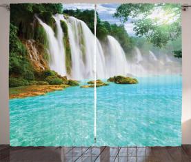 Tropische Wasserlandschaft Pool Vorhang