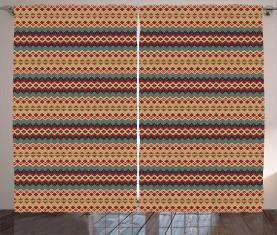 Aztekische Linienmuster Vorhang